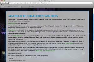 Kingdom Keepers Winners Page